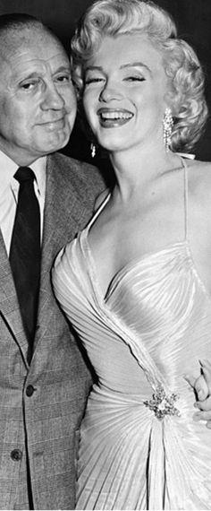 1953: Marilyn Monroe with Jack Benny