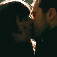 Christian and Anastasia-ffity shades darker Cute Couples Kissing, Cute Couples Goals, Couples In Love, Romantic Couples, Romantic Kiss Gif, Kiss And Romance, Romantic Movies, Fifty Shades Series, Fifty Shades Movie