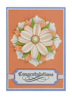 Congratulations Card found on the internet made with the Inkadinkado Stamping Gear