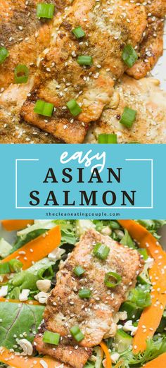 This Asian Salmon recipe is an easy dinner that you can make baked in the oven, on the grill or in foil. Healthy, whole30, paleo and done in under 30 minutes! The marinade is so delicious and the salmon goes great on salad or in power bowls! #paleo #whole30 #salmon Salmon Recipes, Seafood Recipes, Asian Salmon, Healthiest Seafood, Clean Eating Recipes, Whole30, Bowls, Oven, Paleo