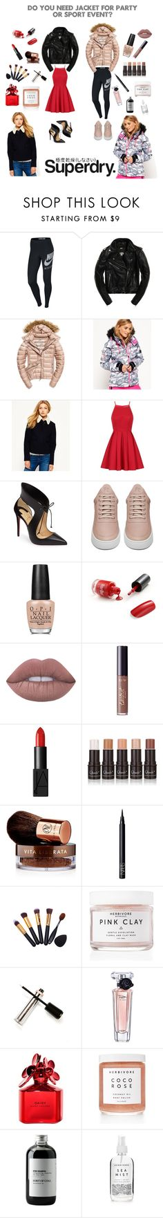 """""""The Cover Up – Jackets by Superdry: Contest Entry"""" by alma994 ❤ liked on Polyvore featuring NIKE, Fuji, Superdry, Chi Chi, Christian Louboutin, Filling Pieces, OPI, Lime Crime, tarte and NARS Cosmetics"""