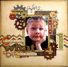 Boys Rule Scrapbook Kits: April kit   Cute!