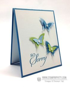 Stampin up stampinup pretty order online elegant bitty butterfly punch card idea sympathy