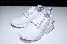 87db163e1 Women s adidas NMD R1 Primeknit Running White Blue Tint CQ2040