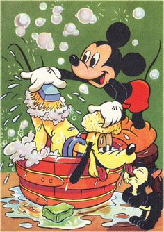 ✶ An Antique print of Ⓜ︎ⓘⓒⓚⓔⓨ Ⓜ︎ⓞⓤⓢⓔ & ⓟⓛⓤⓣⓞ ✦ 1940s Walt Disney print ★