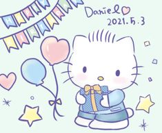 Hello Kitty Birthday, Sanrio, Beer, Fictional Characters, Art, Root Beer, Ale, Fantasy Characters
