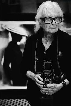 Lillian Bassman holding a rolleiflex .what a cool lady. Her signature style, once described by Richard Avedon as making 'visible that heart-breaking invisible place between the appearance and the disappearance of things'. An Inspiration to us all. Robert Mapplethorpe, Robert Doisneau, Diane Arbus, Ellen Von Unwerth, Paolo Roversi, Annie Leibovitz, Man Ray, Richard Avedon, Gordon Parks