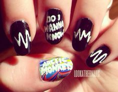 Arctic Monkeys Nail Art