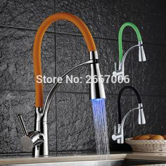 Reviews Free shipping Hot Three Colors choose Luxury Chrome Brass Finished LED Modern Faucet Pull out kitchen faucet Mixer tap ZR655 ☆ Best Buy Free shipping Hot Three Colors choose Luxury Chrom Discount  Free shipping Hot Three Colors choose Luxury Chrome Brass Finished LED  Buy Online : http://shop.flowmaker.info/4A3P6    Free shipping Hot Three Colors choose Luxury Chrome Brass Finished LED Modern Faucet Pull out kitchen faucet Mixer tap ZR655Your like Free shipping Hot Three Colors…