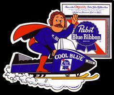 Pabst Blue Ribbon Milwaukee Beer, Beer Memes, Old Beer Cans, Pabst Blue Ribbon, More Beer, Girl Posters, Beer Brands, Beer Signs, Good Ole
