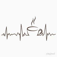 Coffee heartbeat funny Coffee heartbeat funny This. Coffee Logo, Coffee Cafe, Coffee Humor, Coffee Quotes, Coffee Shop, Funny Coffee, Coffee Menu, Happy Coffee, I Love Coffee