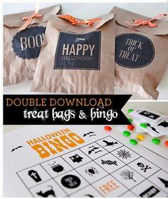 FREE Halloween Treat Bag and Bingo Downloads