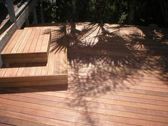 tiered step out from doorway Timber Deck, Deck With Pergola, Backyard Makeover, Deck Design, Doorway, Australia, Patio, Decking, Landscape
