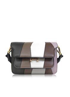 eae31088943 Marni Thyme and Dusty Olive Leather Mini Trunk Bag  2