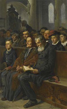 Alexei Danilovich Kivshenko - In A Church [1881]
