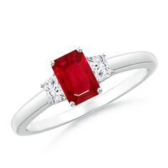 Angara Channel-Set Ruby Half Eternity Wedding Band pQRAJNM