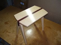 A side table made from Hard Maple and Jarrah. Dimensions: 520mm wide x 300mm deep x 460mm high. YouTube videos of the building process can be seen @ Part 1 - https://www.youtube.com/watch?v=VRBTei_RBts Part 2 - https://www.youtube.com/watch?v=m2oTHZluG_I  #sidetable #furniture #wood #woodwork