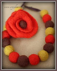 Autumn Crochet Necklace, Autumn, Handmade, Jewelry, Fashion, Crochet Collar, Fall, Hand Made, Jewellery Making