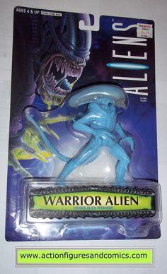 aliens vs predator kenner WARRIOR ALIEN BLUE 1996 KB toys movie moc mip mib action figures