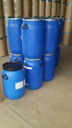 55 gallon Food Grade Plastic Drum 55 gallon plastic barrels closed