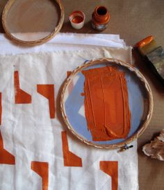small scale #screenprinting by #LottaJansdotter #make #print #diy #party #craft