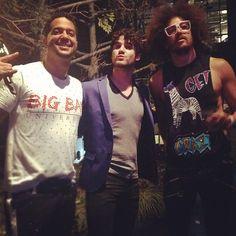 Darren Criss with LMFAO