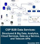 """5% off w FREE membership: Mind Commerce report """"Communication Service Provider B2B Data Services: Structured and Big Data, Analytics, Cloud Services, Data as a Service, and Telecom APIs"""" [#TDaaS]. #Verizon, #Sprint, #Telefonica, etc are exploiting new revenue models  by partnering w/ firms such as #SAP, #IBM, #HP and #AirSage to package and sell their network and subscriber data (#DaaS) to marketers and others on an anonymized basis. Details. www.eogogics.com/?p=18839"""