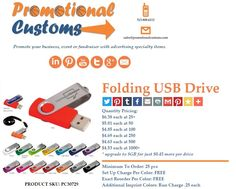 Personalized USB Flash Drives | Great Gift | Tremendous Pricing | http://www.promotionalcustoms.com/30729-USB-Flash-Drive.php