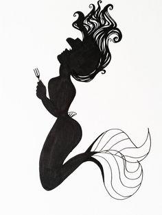 Ariel Silhouette Art by Hoshino-Libra on DeviantArt