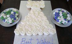 dress cupcake pull apart layout | Cupcake Wedding Dress — Bridal Shower