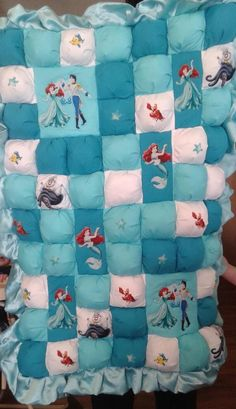 Custom Made Bubble Baby Quilt by SweetDreamsByDebbie. Additional Beauty and the Beast Crib Bedding Sets featured as well. #beautyandthebeast #cribsets #cribbedding #nursery #babyshowergift #funkthishouse