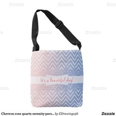 #Chevron #rosequartz #serenity #personalized text #totebag