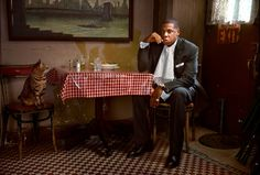 Jay-Z with Cat, by MARTIN SCHOELLER New York, NY | From a unique collection of portrait photography at https://www.1stdibs.com/art/photography/portrait-photography/