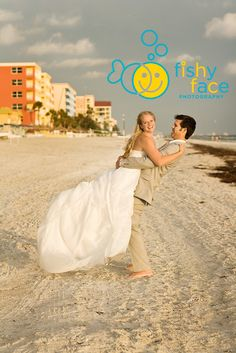 tan and white, trash the dress Fishy Face Photography: beach portraits