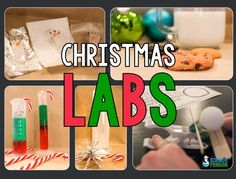 Christmas Labs-- Christmas-themed science experiments! $
