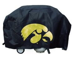 """Iowa Hawkeyes Deluxe BBQ / Grill Cover: """"The perfect item for any Iowa Hawkeyes fan! Show your favorite… #Sport #Football #Rugby #IceHockey"""