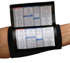 wristband playbook template printable column triple window wristband included don  print