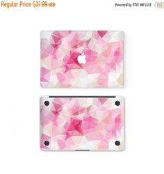 Items similar to Pink Triangles Apple MacBook Top Front Lid Bottom Cover Decal Skin Sticker Protector Air Pro Retina Touch Bar 11 12 13 15 17 inch on Etsy