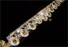 New Jupiter Dimedici 1311 Series Professional Solid Silver Flute Engraved Keys, GORG<3