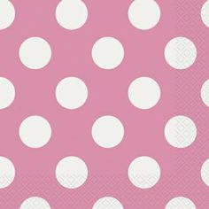 Pink Polka Dot Paper Napkins - Girls Birthday Party Themes and Party Supplies Online India