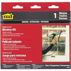 M-D Building Products Shrink&Seal Window Kit 04184 Unit: Each, Clear