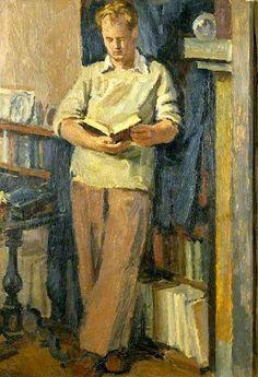 Bell, Vanessa (1879-1961) Quentin Bell reading, c.1936-38