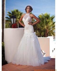 2013 Neues wunderschönes Brautkleid aus Organza und Spitze