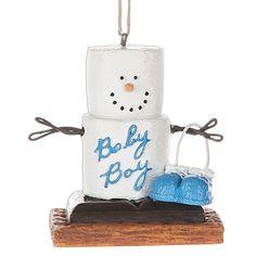 2016 S'mores Snowman Baby Boy Ornament