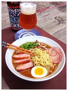 The Beer and Food Project: Smoked Tonkotsu Ramen with Seared Pork Belly & Arctic Panzer Wolf
