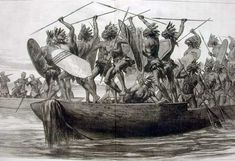 War canoes. Traditional African Boat Designs - Culture - Nigeria