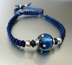 Artbeader chrissy made this bracelet with help from our TierraCast EuroBead aligners. We love the mix of macrame and beads!