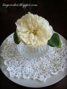 Dining Table Centerpiece ~ doily ~ graph only