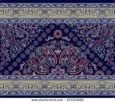 seamless paisley pattern Ajrakh Prints, Bull Elephant, Paisley Pattern, Illustration, Embroidery Designs, Bohemian Rug, Rugs, Embroidery Dress, Fabric