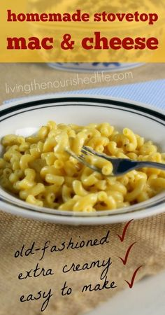 This creamy homemade mac and cheese recipe was passed down from my mom, given a few tweaks, and now my kids love it as much as I always have. This is old-fashioned comfort food at its best. - livingthenourishedlife.com